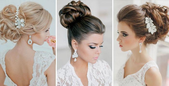свадебные прически собранные волосы
