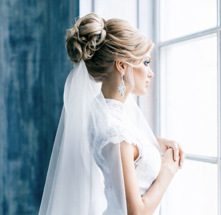 Свадебные прически - собранные волосы
