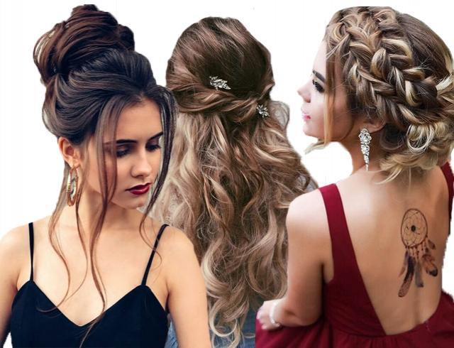 как сделать модные прически на длинные волосы на выпускной бал