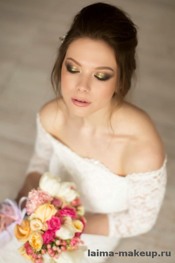 фото макияжа и прически невесты