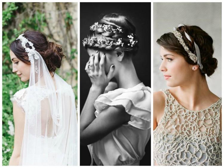 свадебные прически с украшениями