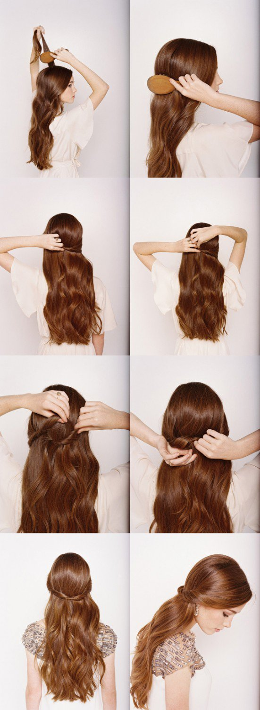 Лёгкие причёски на каждый день на длинные волосы для девочек