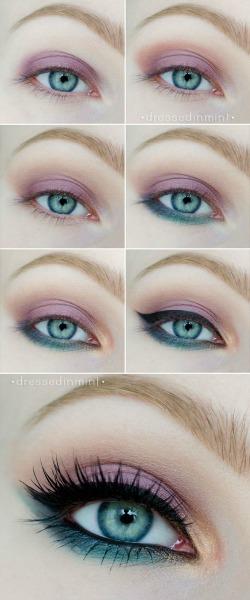 Макияж голубых глаз
