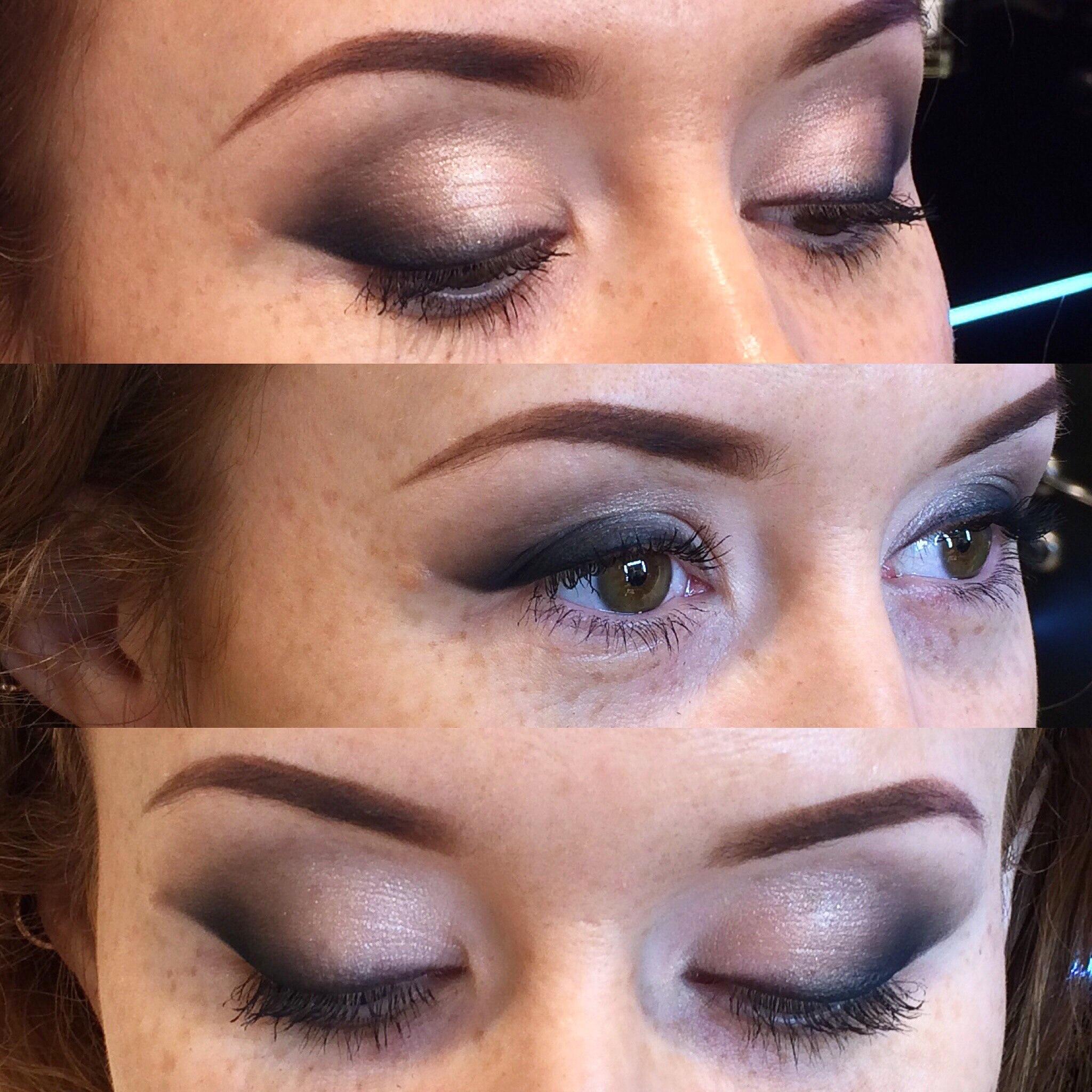 макияж глаз тенями