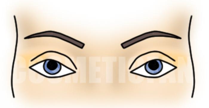 с голубыми глазами