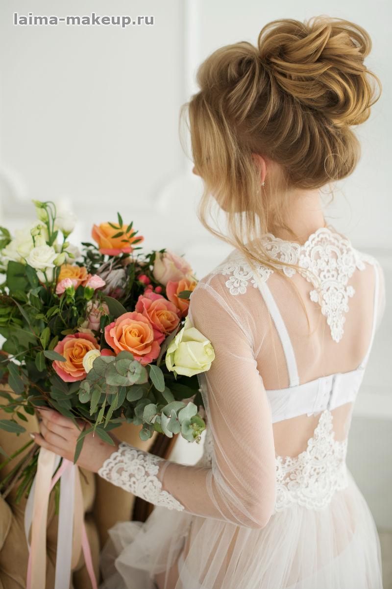 Фото свадебной прически