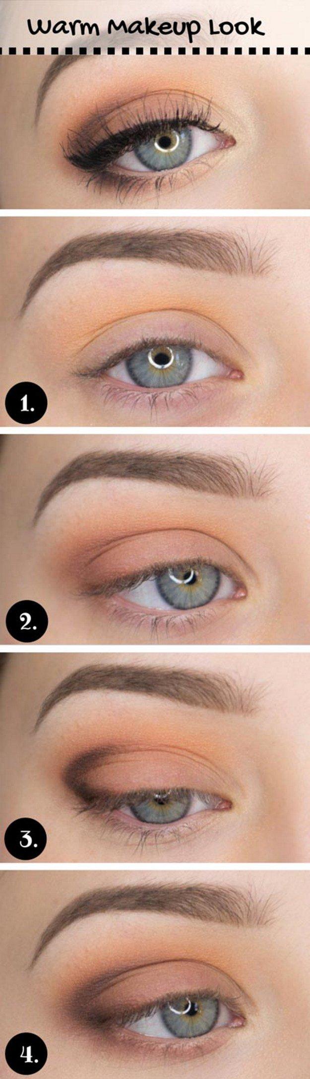 макияжа для голубых глаз